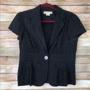 MICHAEL Michael Kors Cutout Black Blazer Size 6